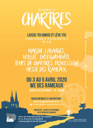 Flyer A6 Pelerinage de Chartres 2020